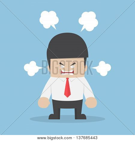 Angry Businessman Explode His Emotion