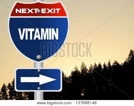 Vitamin road sign