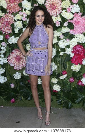 LOS ANGELES - JUL 7: Madison Pettis at the prettylittlething.com launch party at a private residence on July 7, 2016 in Los Angeles, California