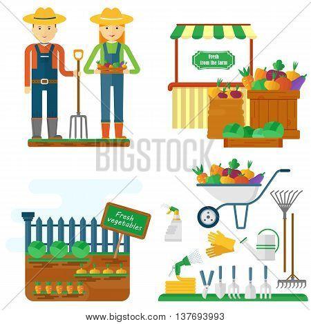 Farmer With Garden Equipment