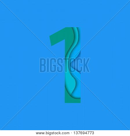 Number one design template element. Number one vector logo, icon and sign in material design style.
