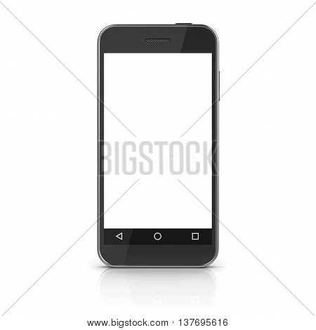 White screen mobile phone This is a 3d computer generated image. Isolated on white.
