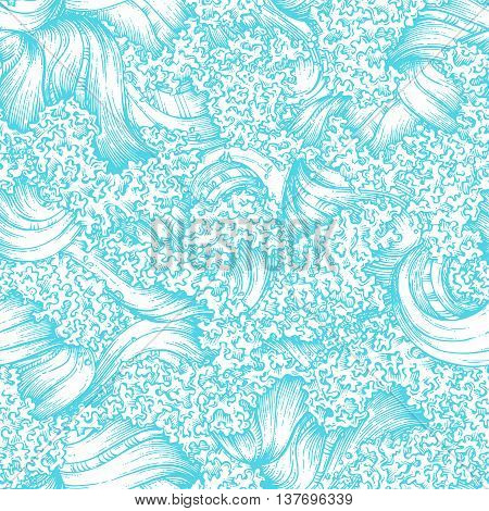 Seamless Waves Pattern.