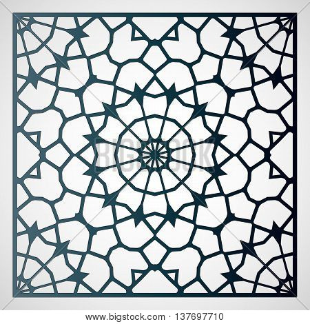 Vector delicate mandala. Laser Cutting template for greeting cards envelopes invitations carved decorative elements of the interior.