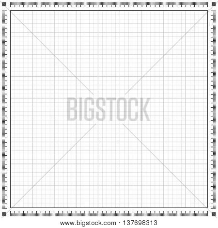 Blueprint grey background. Scale grid vector illustration