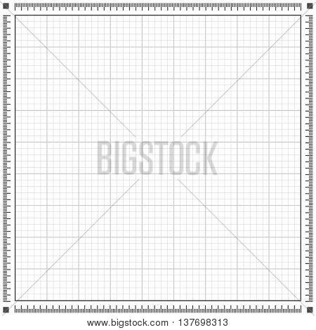 Blueprint grey background. Scale grid vector illustration