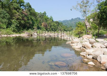 Landscapes beautiful  air river nature Mountain stream