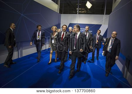 Petro Poroshenko And Matteo Renzi
