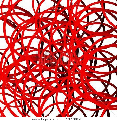 Random Squiggle Lines, Intersecting Random Circles. Scribble, Tangled Lines Pattern. Creative Monoch