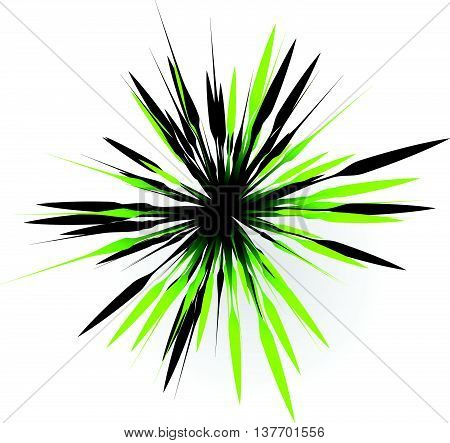 Element With Random Lines Rays Radiating. Abstract Burst Shape.