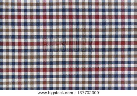 Plaid Patterns in Red Dark Navy Blue and White.