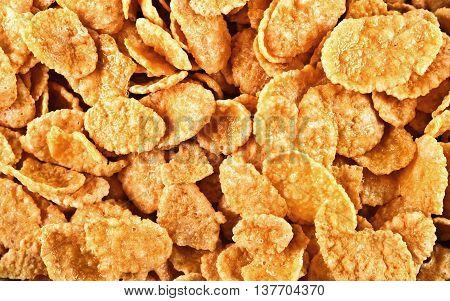 Photo Of Background Of Goldish Corn Flakes