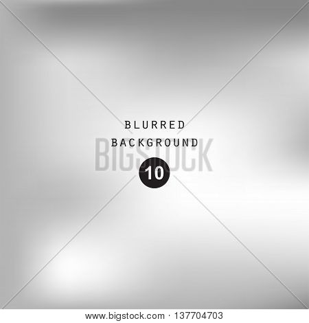 Blurred abstract gradient background for web presentations and prints. Blur silver image objects abstraction in gray color bright light effect holographic soft blurry business graphic design  cover modern pattern mesh smooth website