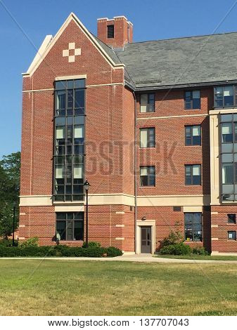 STORRS, CT - JUN 26: Dorm rooms at the University of Connecticut (UConn) in Storrs, Connecticut, as seen on Jun 26, 2016. It was founded in 1881 and serves more than 30,000 students on its 6 campuses.