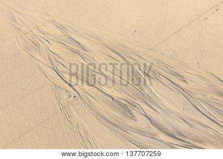 Pattern Type Texture On The Sand Beach