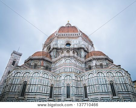 Florence Cathedral and Giotto bell tower with space above