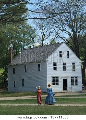 STURBRIDGE, MA - JUN 26: Old Sturbridge Village in Sturbridge, Massachusetts, as seen on Jun 26, 2016. It is a living museum which re-creates life in rural New England during the 1790s through 1830s.