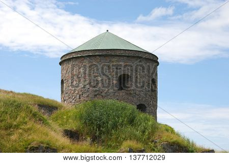 Bohus Fortress in Kungälv, Nordic historic site, more than 700 years old, unsuccessfully besieged several times