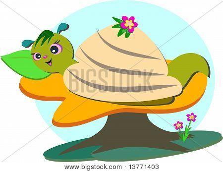 Cute Snail Takes a Nap
