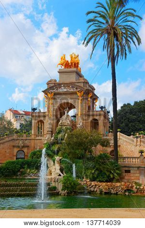 Cascada Fountain In The Ciutadella Park In Barcelona