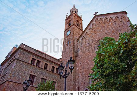 Old Church In The Old City Of Barcelona