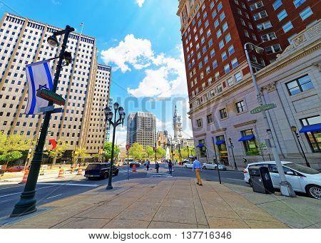 Arch Street In Philadelphia In Pa