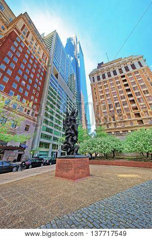 Holocaust Sculpture On Benjamin Franklin Parkway In Philadelphia
