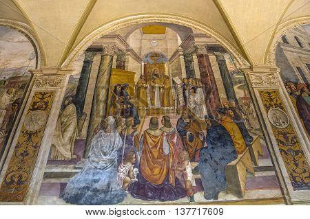 Abbey Of Monte Oliveto Maggiore, Tuscany, Italy