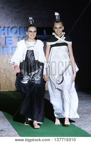 Fashion Week Zagreb : Djenisa Pecotic And Emina Kusan, Zagreb, Croatia.