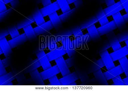 Illustration of dark blue and black weaved pattern