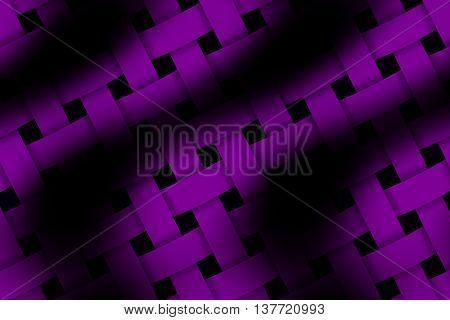 Illustration of purple and black weaved pattern