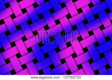 Illustration of dark blue and purple weaved pattern