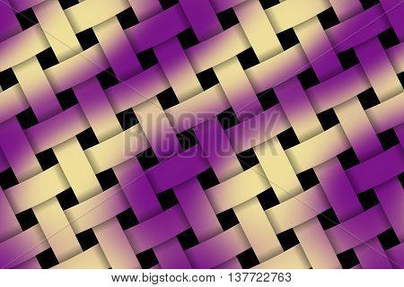 Illustration of purple and vanilla weaved pattern