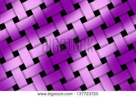 Illustration of pink and purple weaved pattern