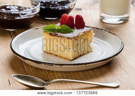 Baked Rice Pudding With Rasberry
