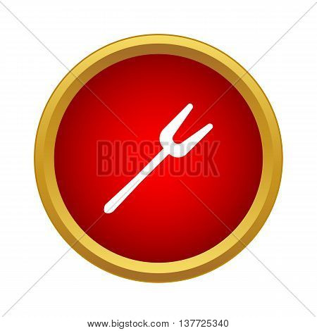 Barbeque fork icon in simple style on a white background