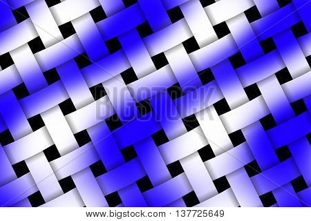 Illustration of dark blue and white weaved pattern