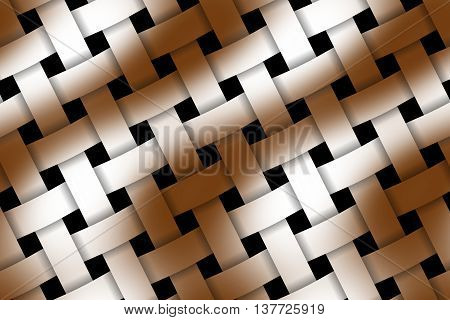Illustration of brown and white weaved pattern