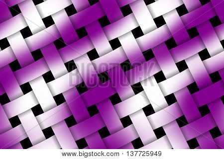 Illustration of purple and white weaved pattern