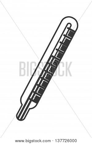simple flat design medical analog thermometer icon vector illustration
