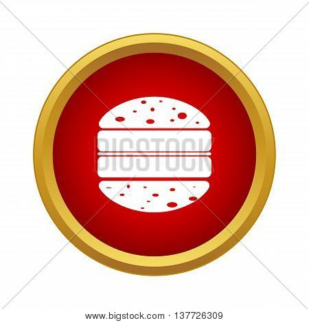 Double hamburger icon in simple style on a white background