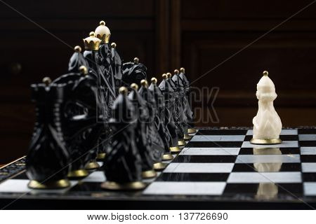boy playing chess  competition couple game man