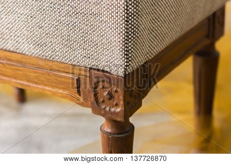 A Fragment Of The Sofa Chair, Fabric Texture For Hammering Furniture, Paneling And Interior Design,