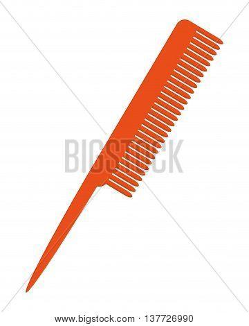 simple flat design hair comb icon vector illustration