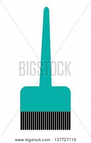 simple flat design hair dye brush icon vector illustration