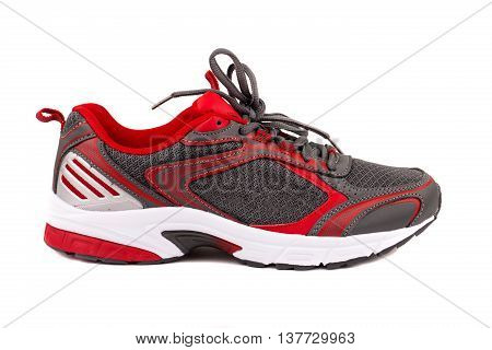 Sport athletic shoes isolated on white background