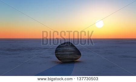 Sunrise With Stone