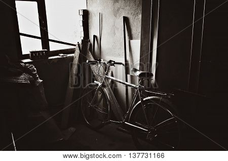 old bike, associated with the past and makes to remember