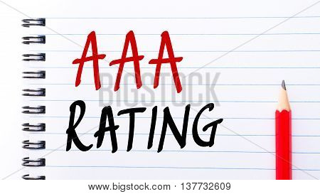 Aaa Rating Written On Notebook Page