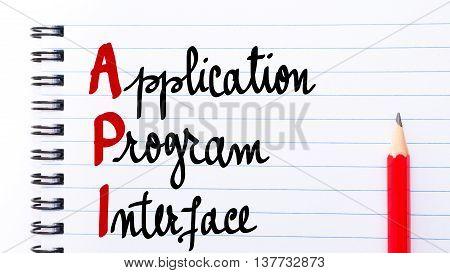 Api Application Program Interface Written On Notebook Page